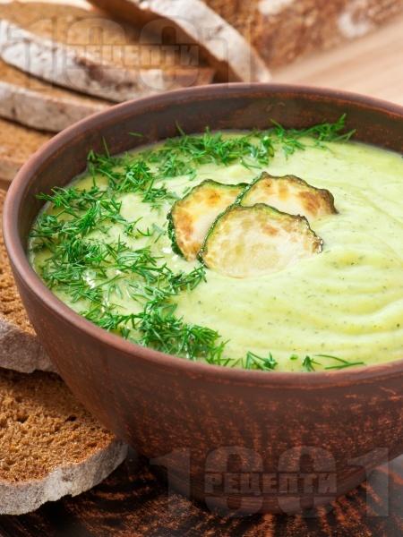 Крем супа от тиквички със сметана и копър - снимка на рецептата